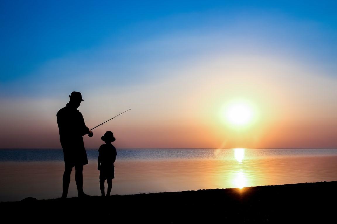 Pêche en mer depuis la plage